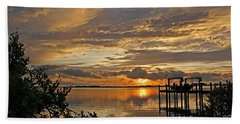 A Brooding Sunset Sky Hand Towel by HH Photography of Florida