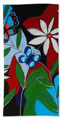 Bath Towel featuring the painting A Butterflies Paradise by Kathleen Sartoris