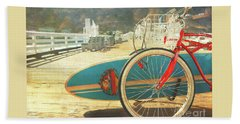 A California Postcard Bath Towel