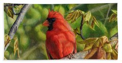 A Cardinal Named Carl Bath Towel