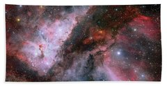 Bath Towel featuring the photograph A Carina Nebula Pano by Nasa