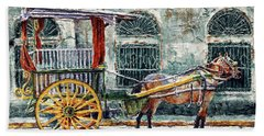 A Carriage In Intramuros, Manila Bath Towel