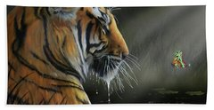 A Chance Encounter II Hand Towel by Don Olea