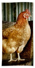 A Chicken Named Rembrandt Bath Towel