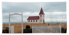 Hand Towel featuring the photograph A Church With No Fence by Dubi Roman