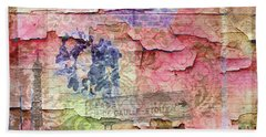 Bath Towel featuring the mixed media A City Besieged by Paula Ayers