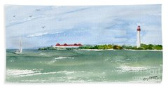 A Clear Day At Cape May Point  Hand Towel