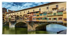 A Closer Look To Ponte Vecchio Hand Towel