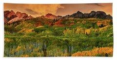 Hand Towel featuring the photograph A Colorado Autumn Along Kebler by John De Bord