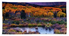 A Colorado Fall Along Kebler Pass Hand Towel
