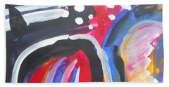 A Colorful Path Hand Towel