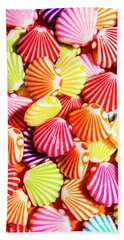 A Colourful Beach Background Bath Towel