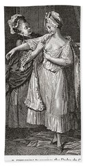 A Contemporary Print Depicting Mary Hand Towel