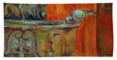 Hand Towel featuring the painting A Cool Drink by Chris Brandley