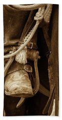 Bath Towel featuring the photograph A Cowboy's Boot by Jeanne May