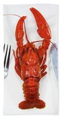 A Crawfish Hand Towel