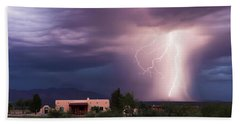 A Dance Of Lightning In The Foothills Hand Towel