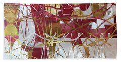 A Dance Of Rubies And Old Gold Hand Towel