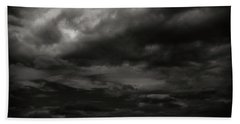 Hand Towel featuring the photograph A Dark Moody Storm by John Norman Stewart