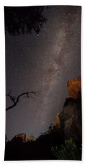 A Dark Night In Zion Canyon Hand Towel