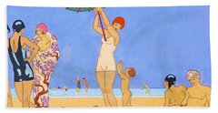 A Day At The Beach, 1923 Hand Towel