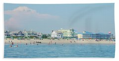 Hand Towel featuring the photograph A Day At The Beach - Cape May New Jesey by Bill Cannon