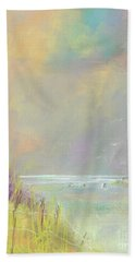 A Day At The Beach Hand Towel by Frances Marino