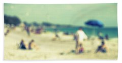 Hand Towel featuring the photograph a day at the beach I by Hannes Cmarits