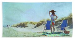 A Day At The Beach Hand Towel