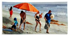 A Day At The Beach Bath Towel by Karyn Robinson