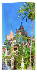 Hand Towel featuring the photograph A Day In Adventureland by Mark Andrew Thomas