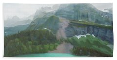 A Day In Glacier National Park Hand Towel