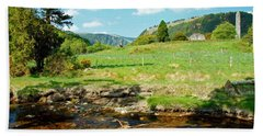 A Day In Glendalough Hand Towel by Martina Fagan