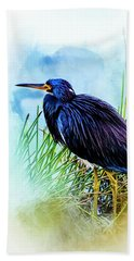A Day In The Marsh Hand Towel by Cyndy Doty