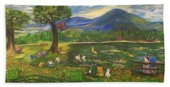 A Day In The Park - 1a Bath Towel by Belinda Low