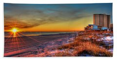 A December Beach Sunset Bath Towel