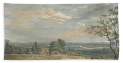 A Distant View Of Maidstone, From Lower Bell Inn, Boxley Hill Hand Towel