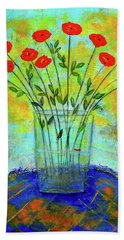 A Dozen Of Red Roses For You Bath Towel