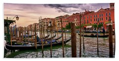 Surreal Seascape On The Grand Canal In Venice, Italy Bath Towel