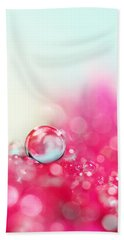 A Drop With Raspberrys And Cream Hand Towel