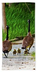 A Family Stroll Bath Towel