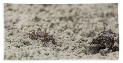 A Fiddler Crab In The Sand Bath Towel
