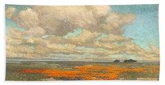 A Field Of California Poppies Bath Towel