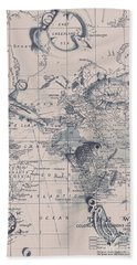 A Fishermans Map Bath Towel