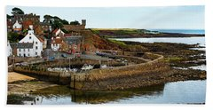 A Fishing Village Named Crail In East Nuek Of Fife Scotland Hand Towel by MaryJane Armstrong