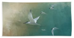 A Flight Of Terns Bath Towel