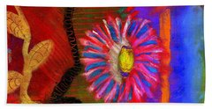 Bath Towel featuring the painting A Flower For You by Angela L Walker