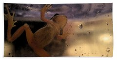 Bath Towel featuring the digital art A Frogs World by Holly Ethan
