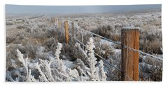 A Frosty And Foggy Morning On The Way To Steamboat Springs Bath Towel