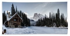 A Frozen Emerald Lake Morning Hand Towel